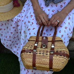 Handbags - 🍇🌻French Girl wicker Purse  🍇🌻